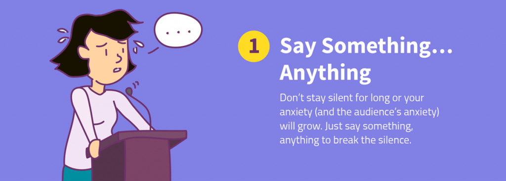 8 ways to recover from a memory lapse during a presentation say something anything
