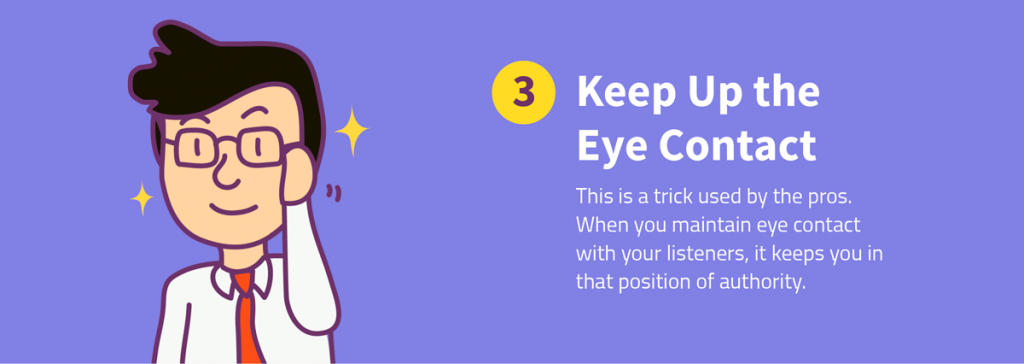 8 ways to recover from a memory lapse during a presentation keep up the eye contact
