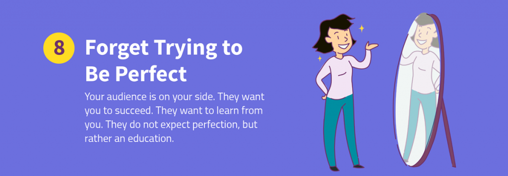 8 ways to recover from a memory lapse during a presentation forget trying to be perfect