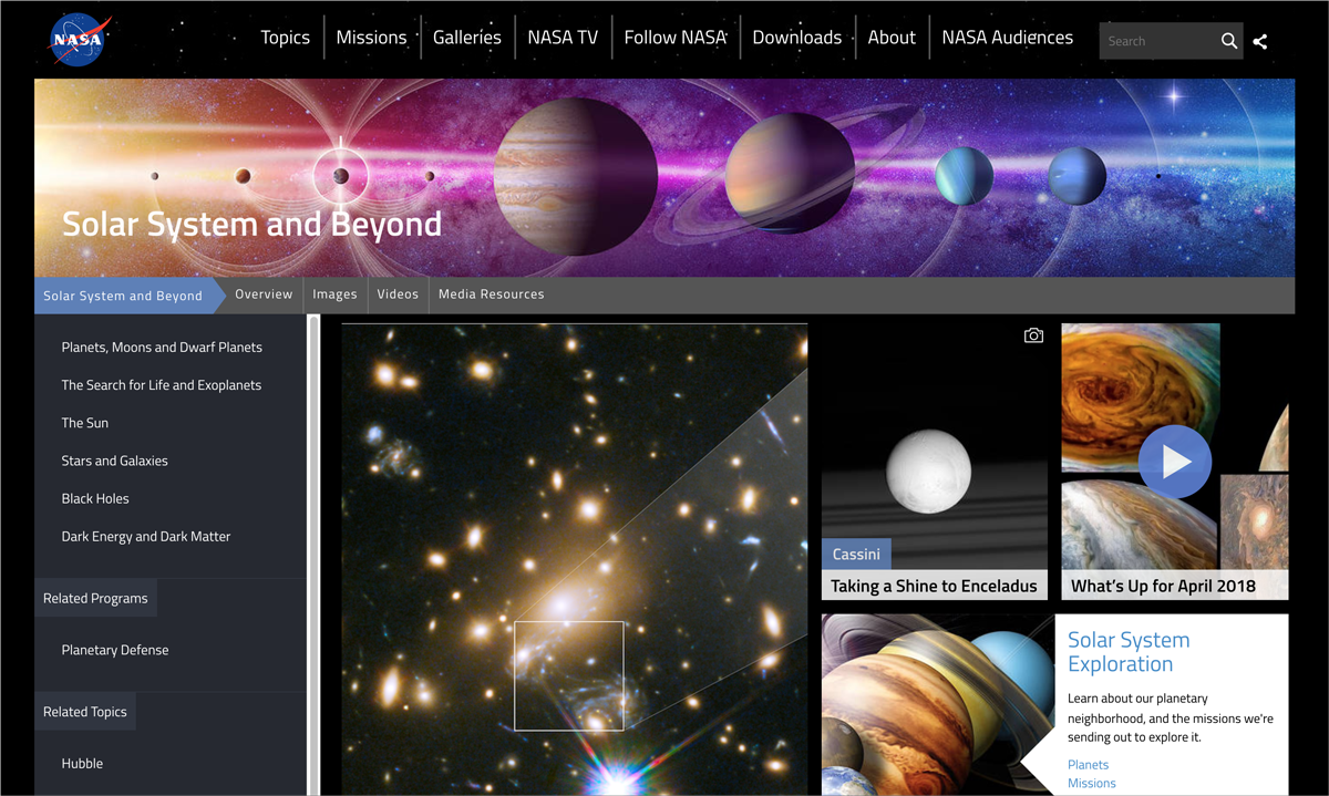 nasa wordpress content management system