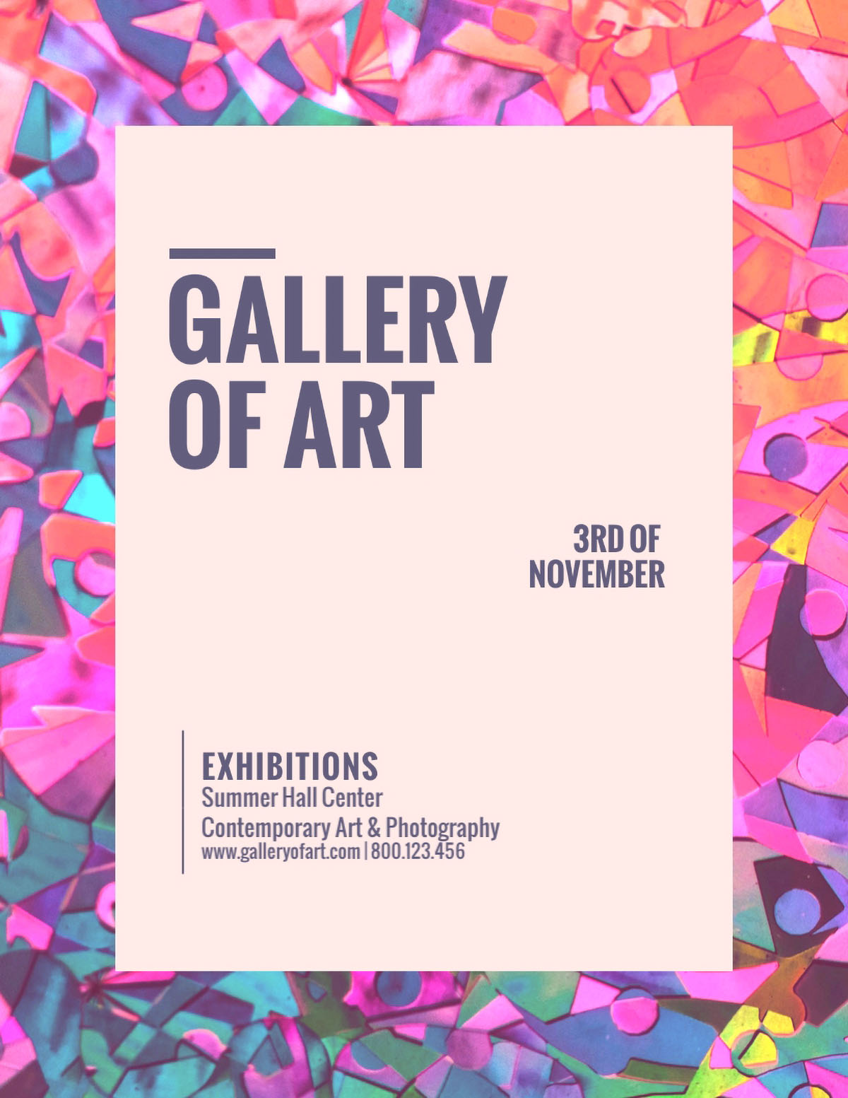 flyer design - gallery of art flyer template