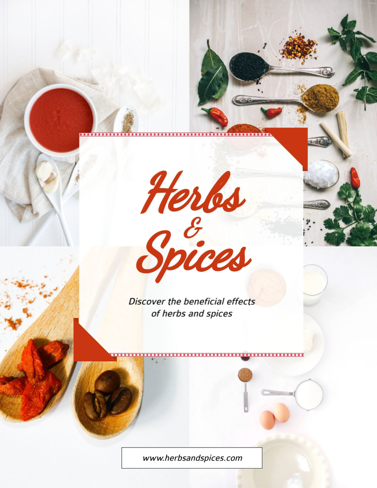 flyer design - herbs and spices flyer template