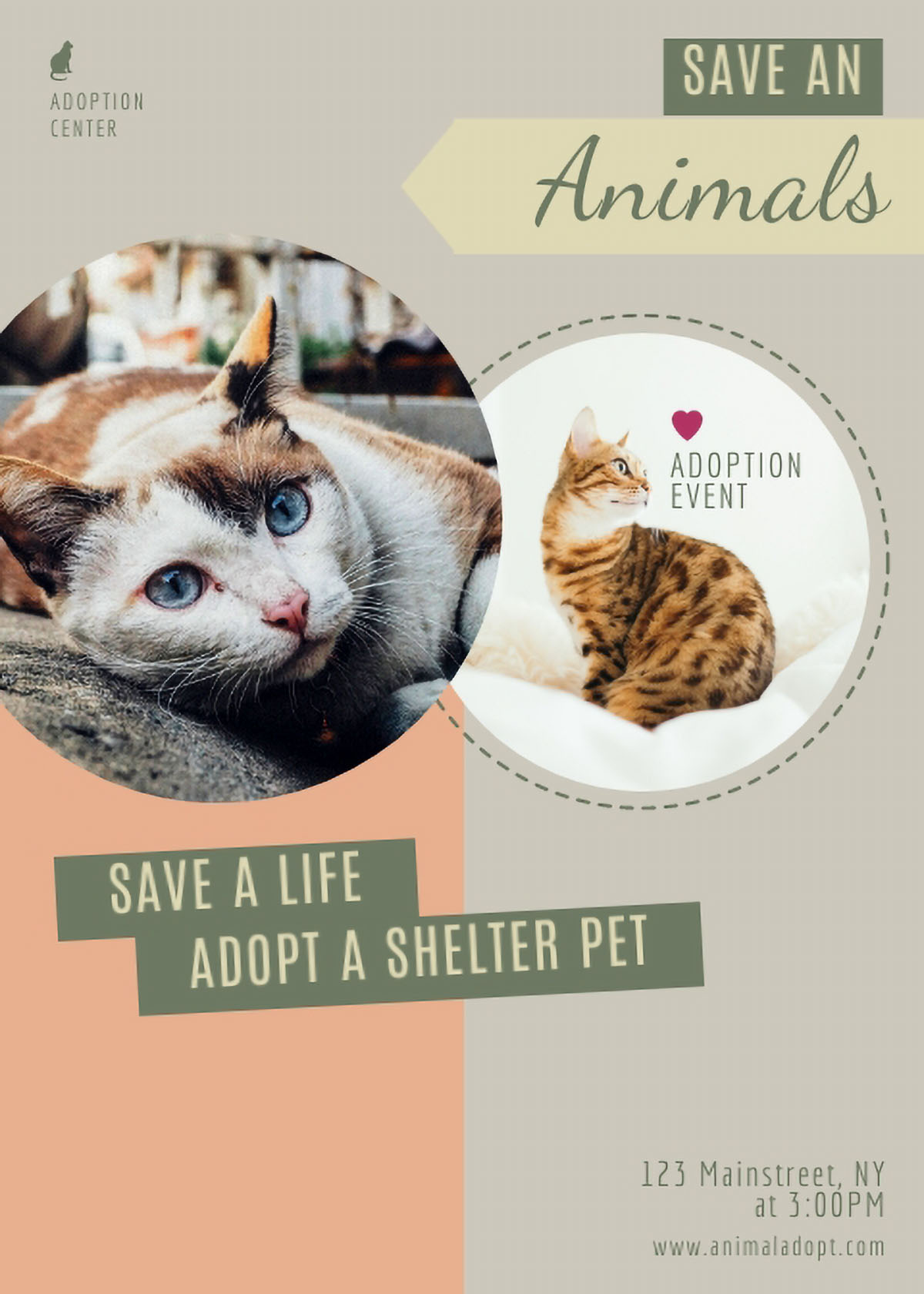 flyer design - pet adoption flyer template