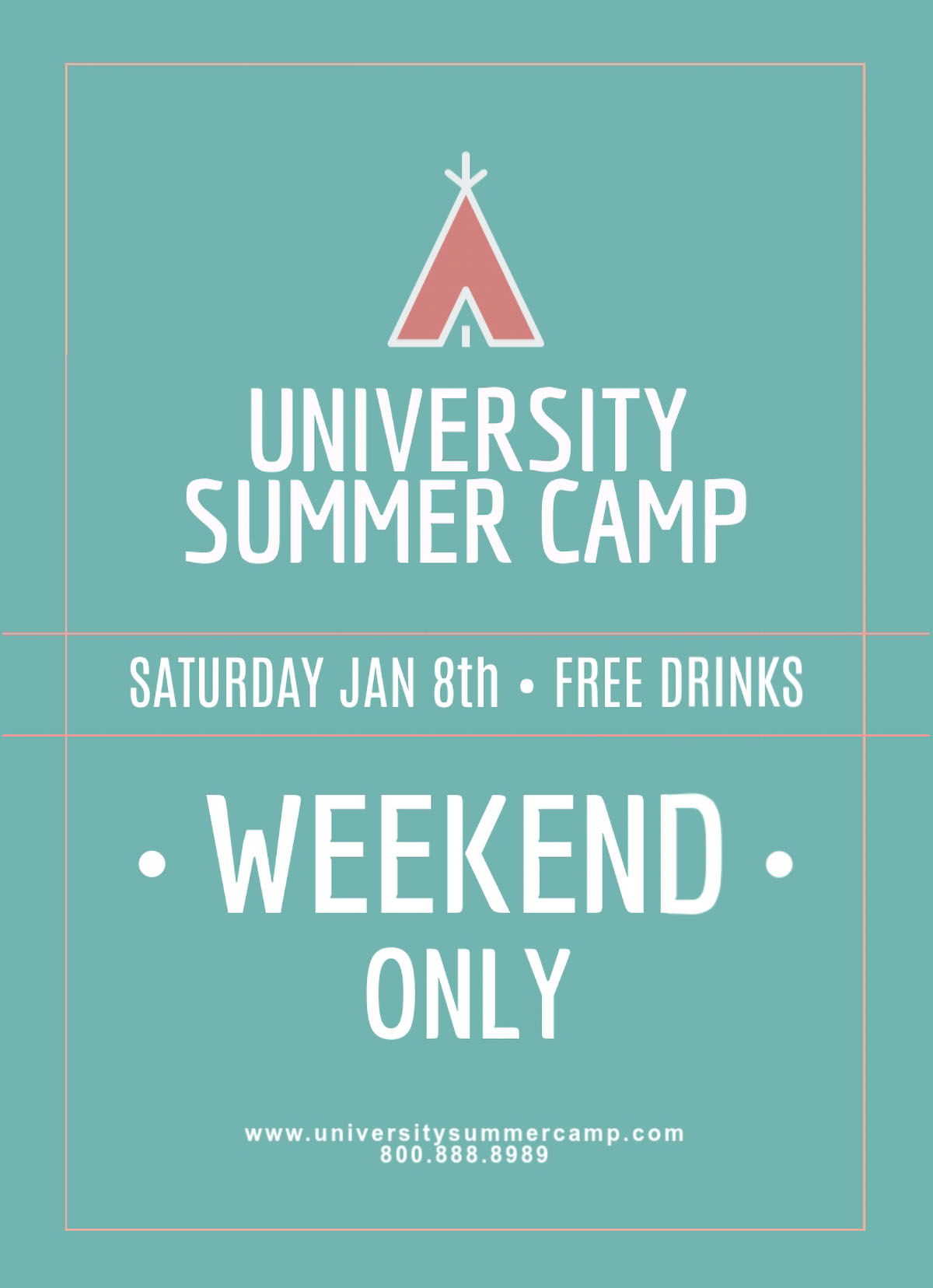 flyer design - summer camp flyer template