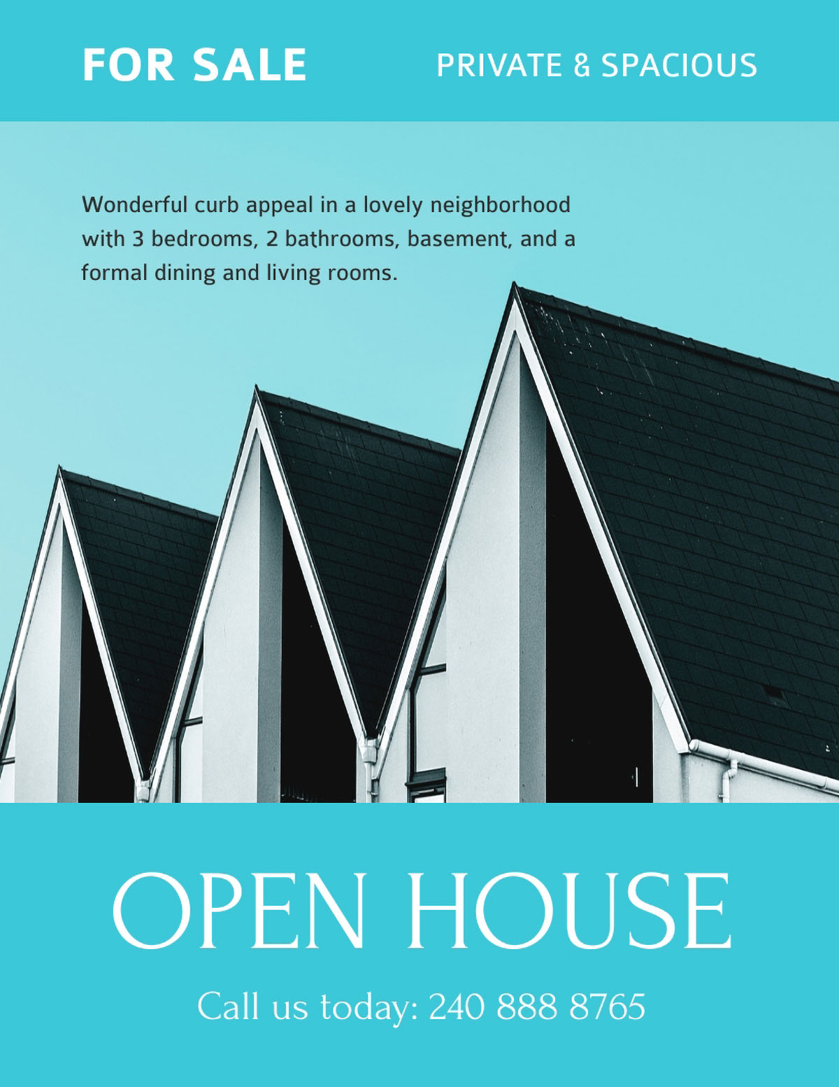 flyer design - open house flyer template