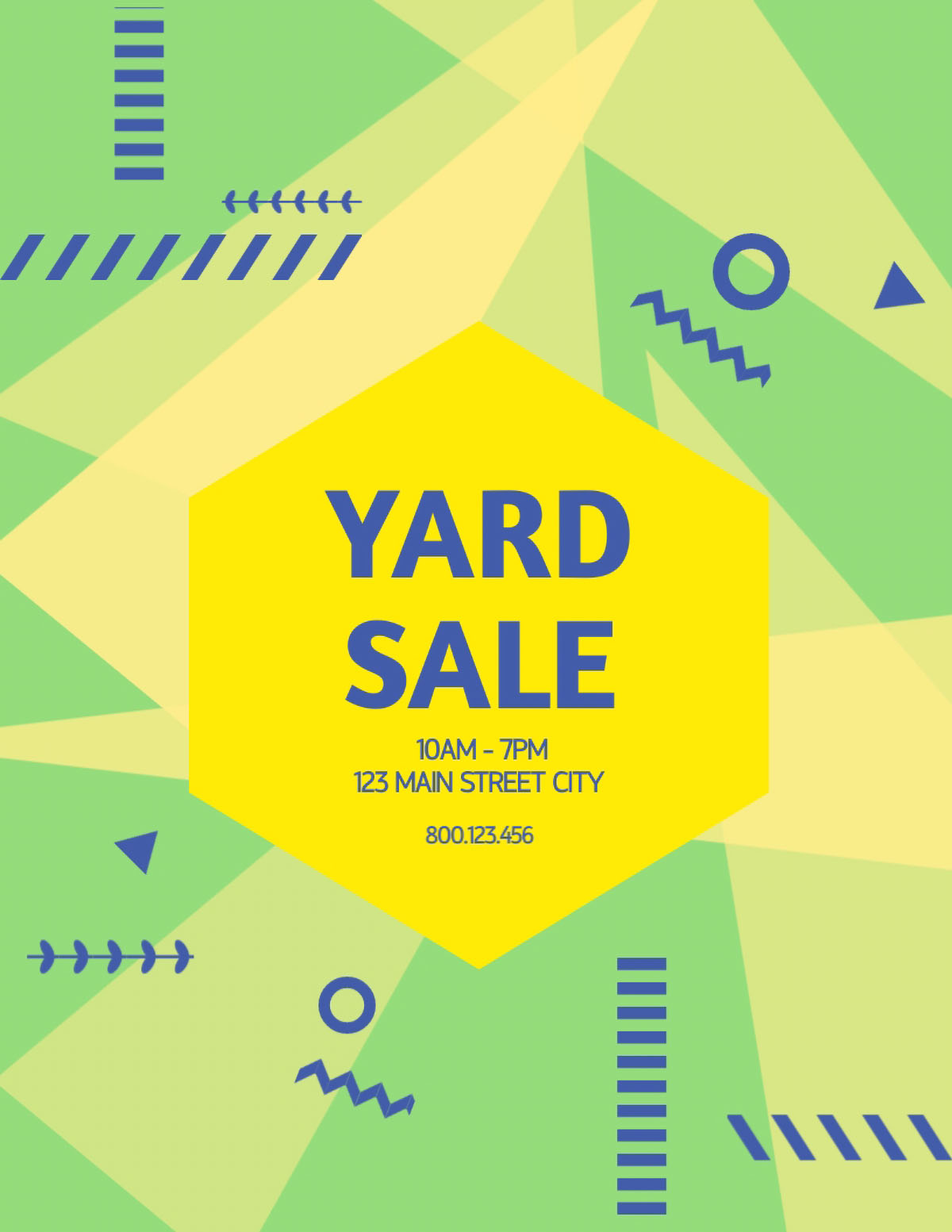 flyer design - yard sale flyer template