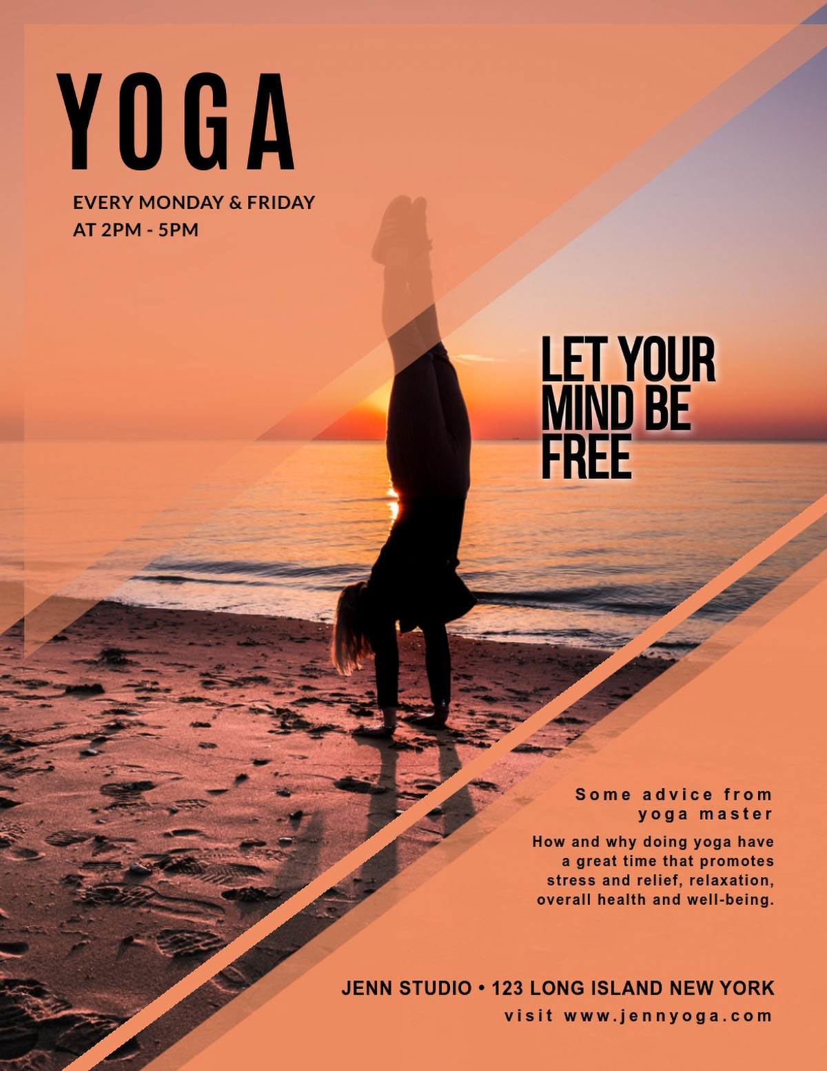 flyer design - yoga flyer template