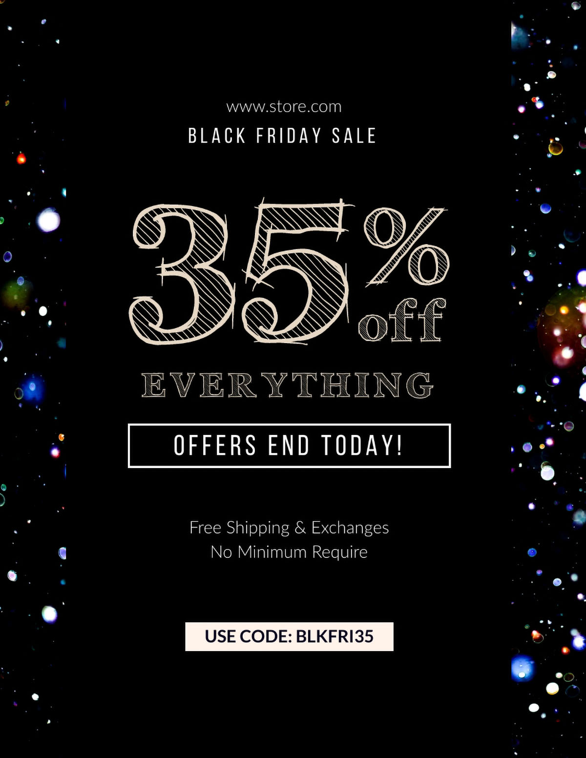 flyer design - black friday sale flyer template