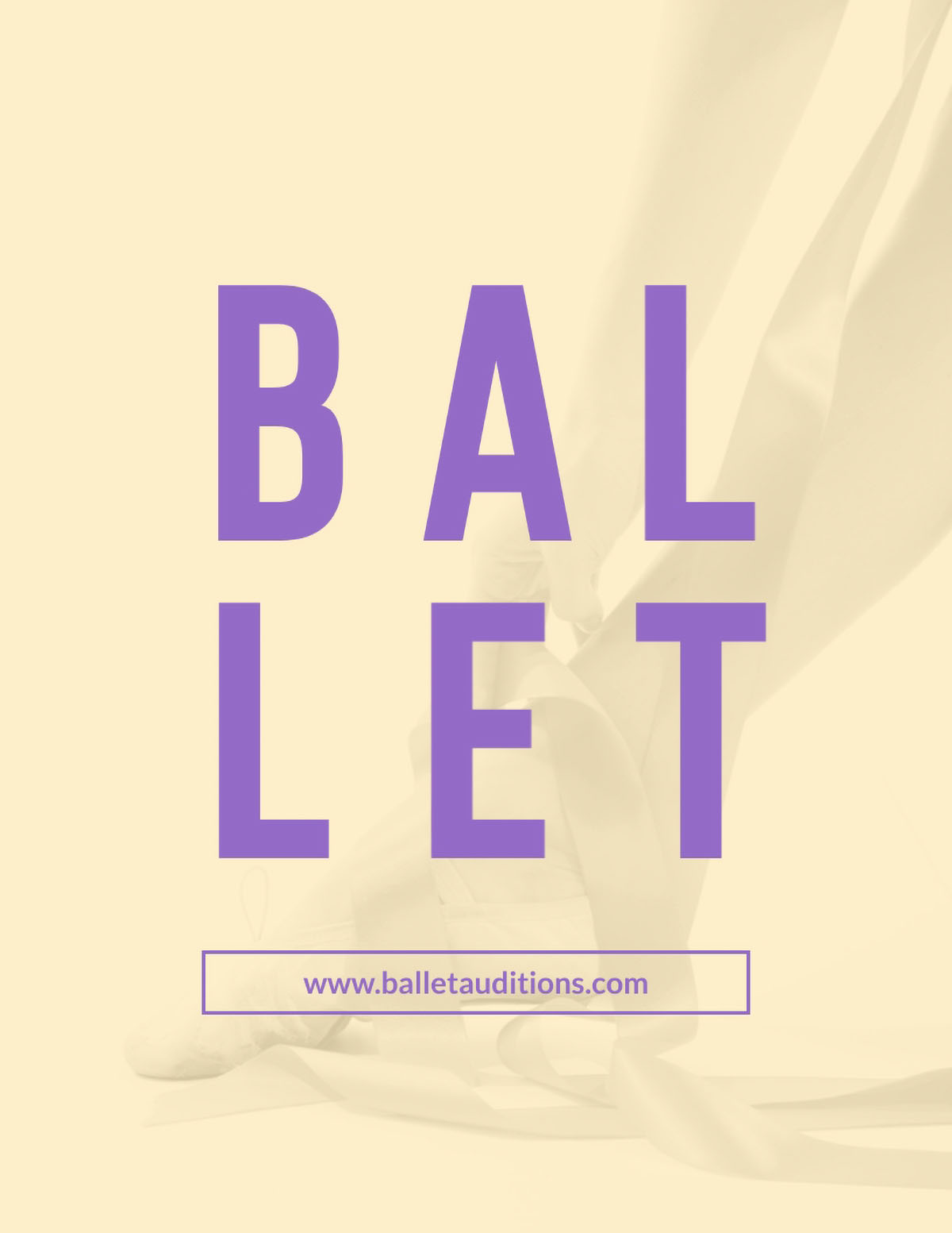 flyer design - ballet flyer template