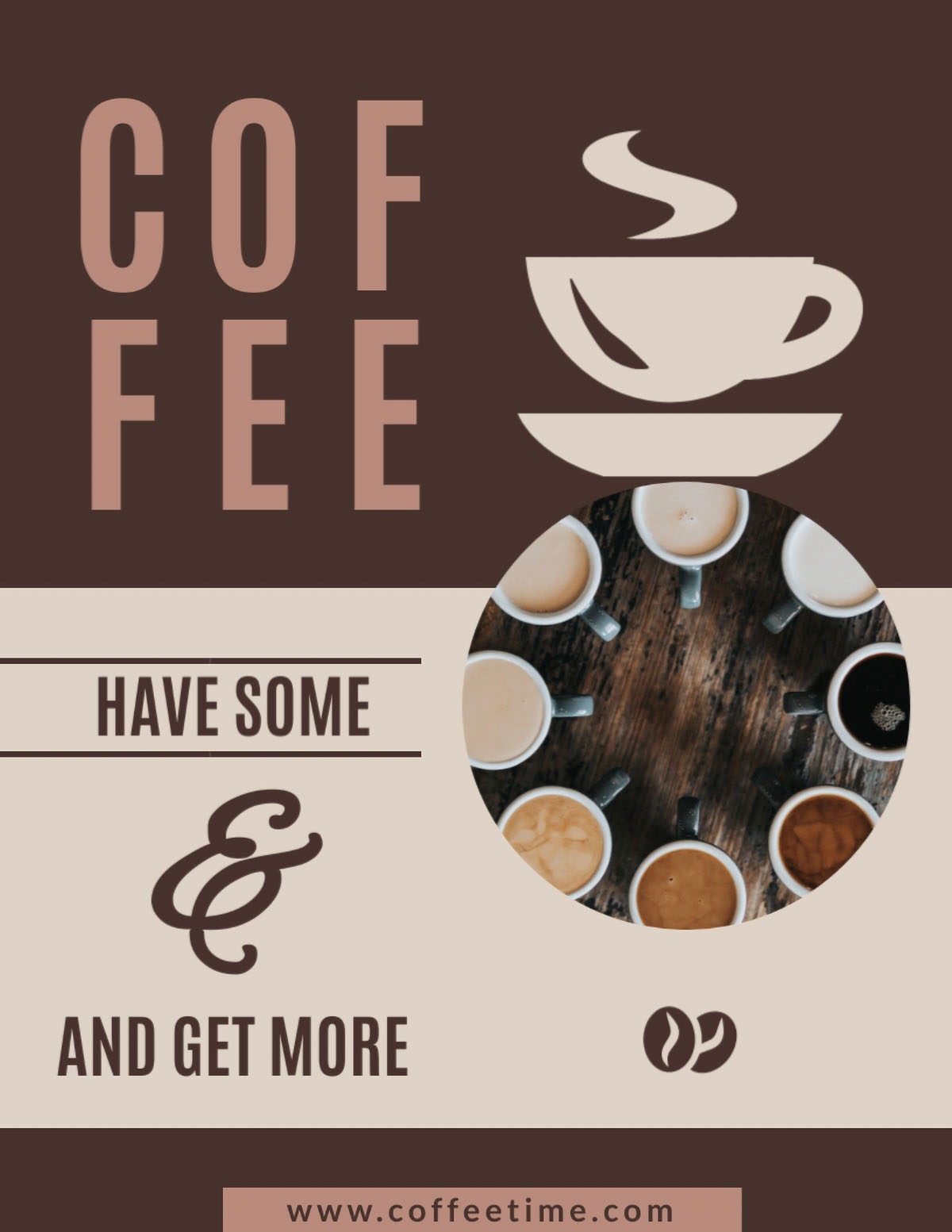 flyer design - coffee flyer template