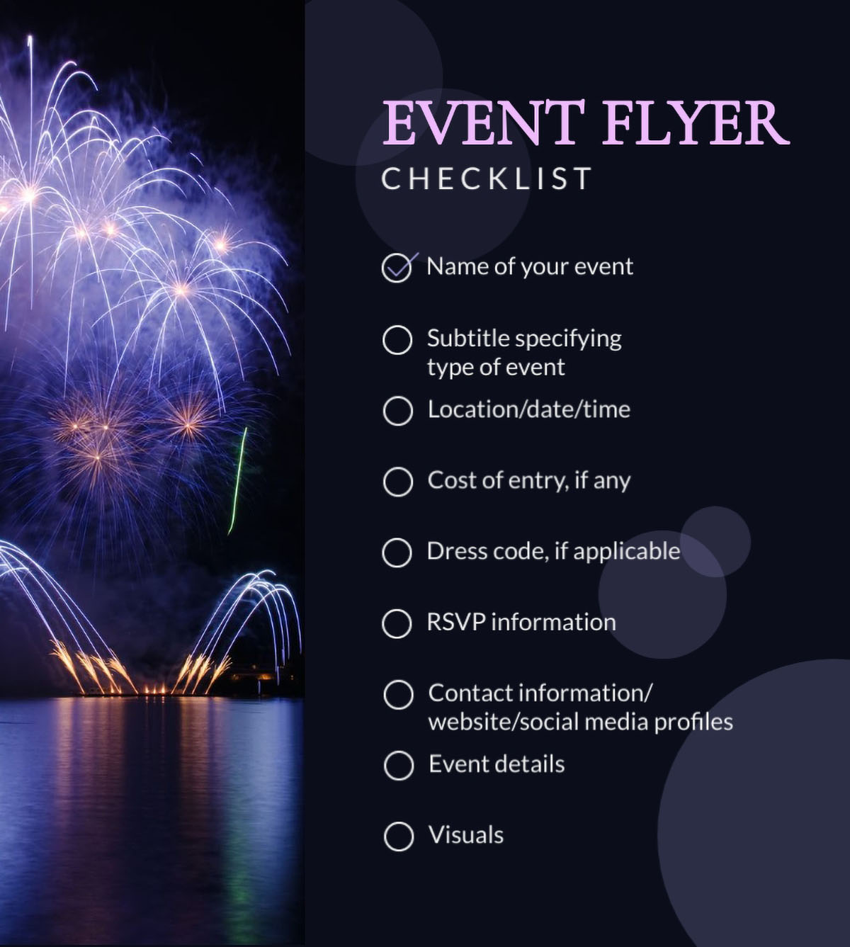 flyer design - event flyer checklist