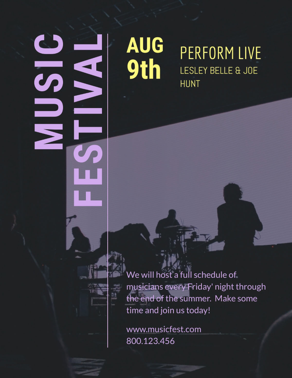 flyer design - music festival flyer template