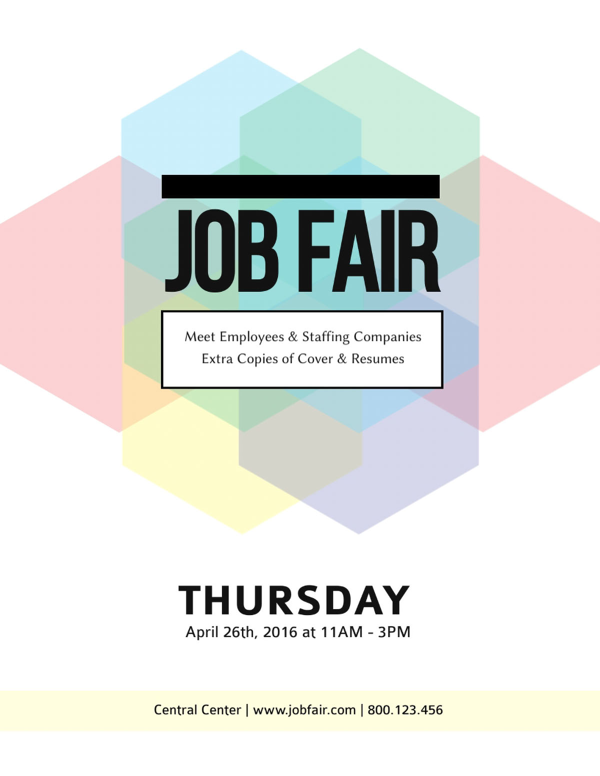 flyer design - job fair flyer template