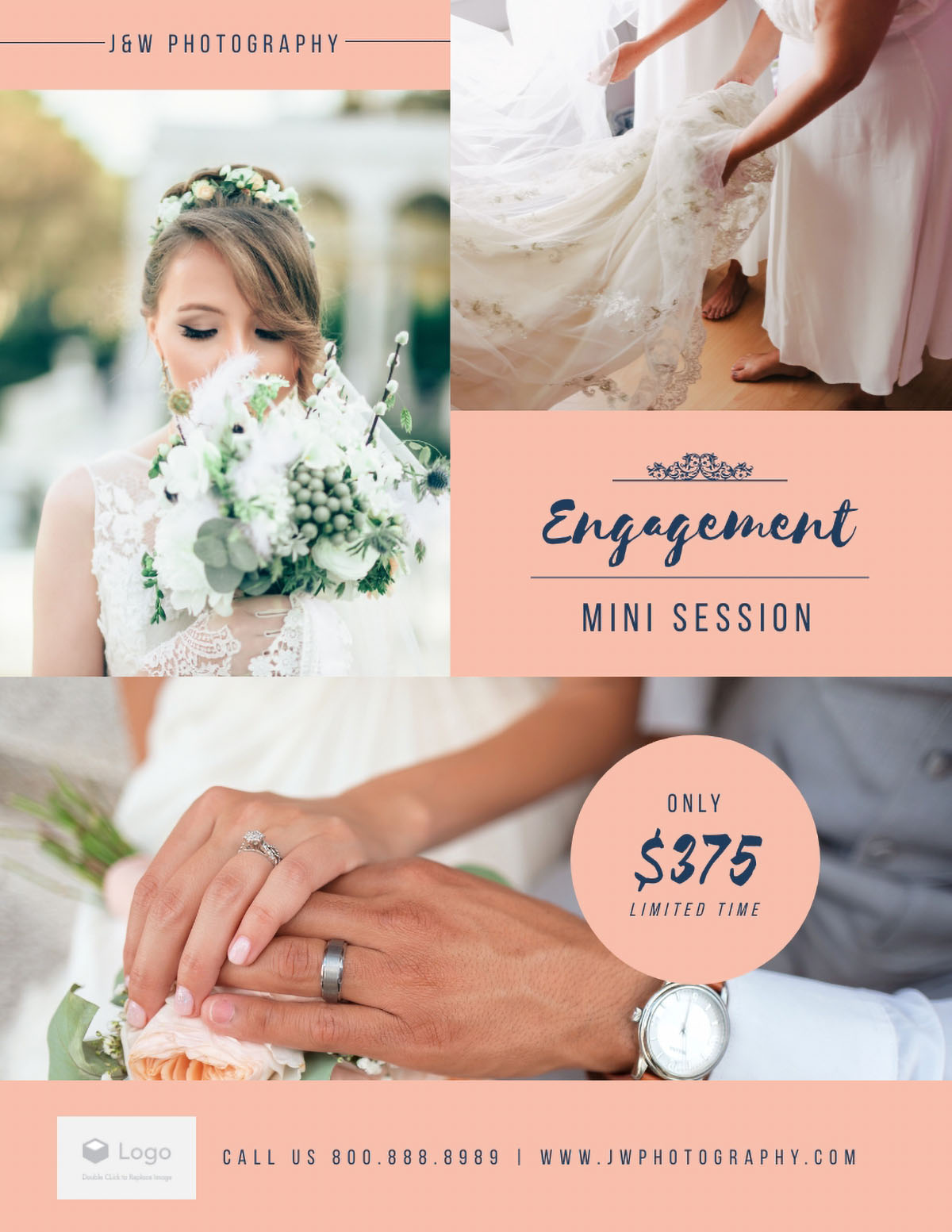 flyer design - engagement photography flyer template