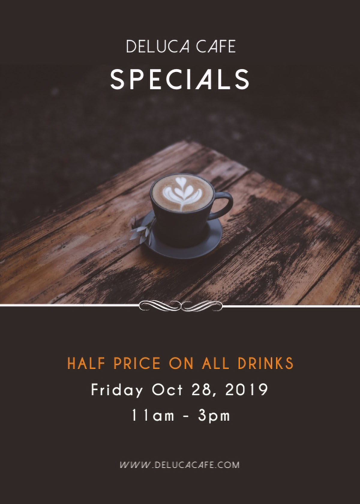 flyer design - cafe specials flyer template