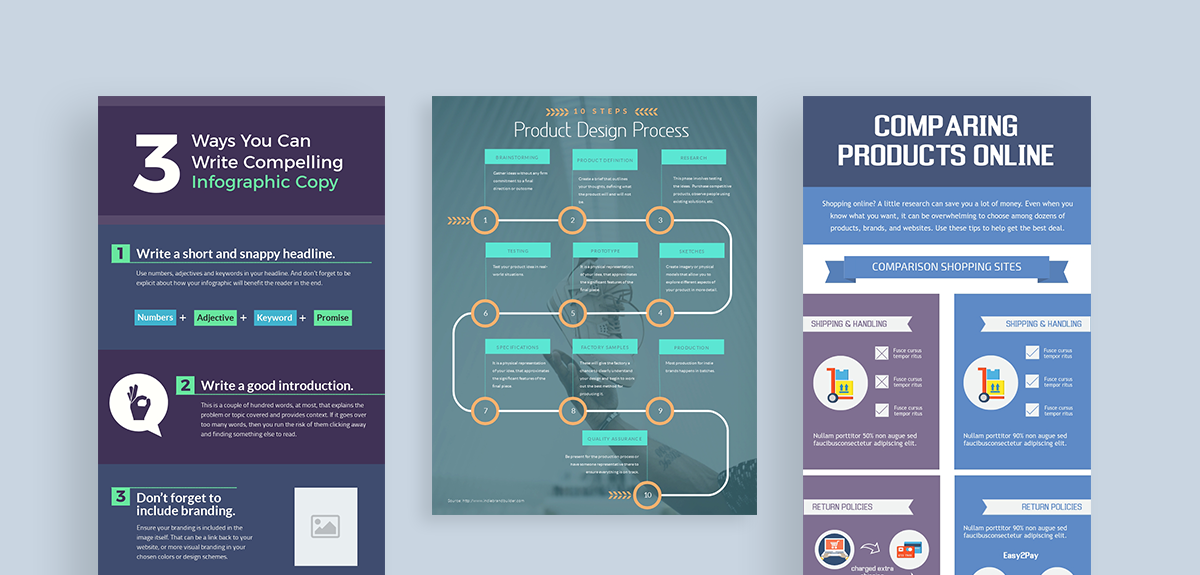 how to create clutter free infographics - choose the right layout