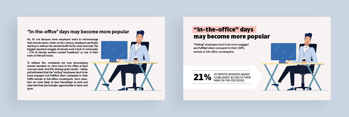 how to create clutter free infographics - use plenty of white space