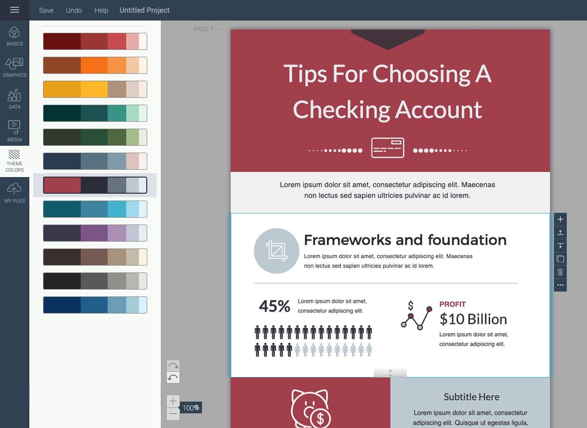 how to make an infographic - adjust the color theme