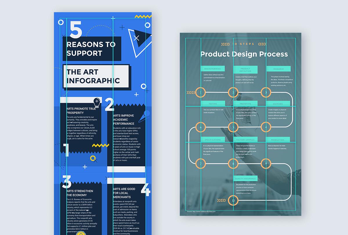 infographic design tip - alignment