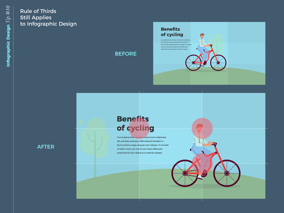 infographic design tip - rule of thirds