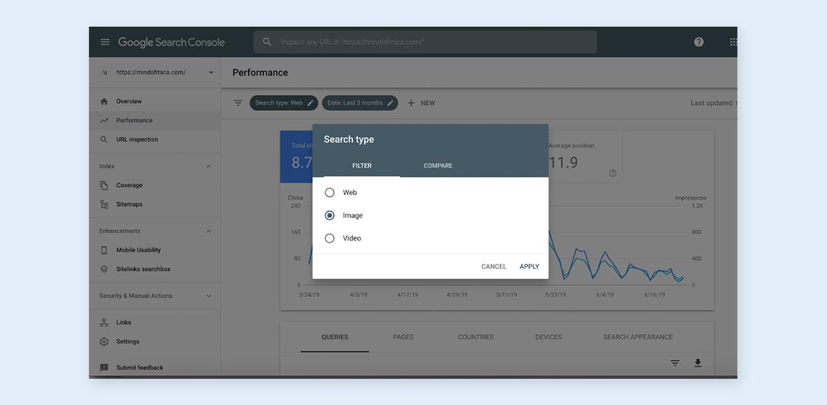 image optimization - image search performance