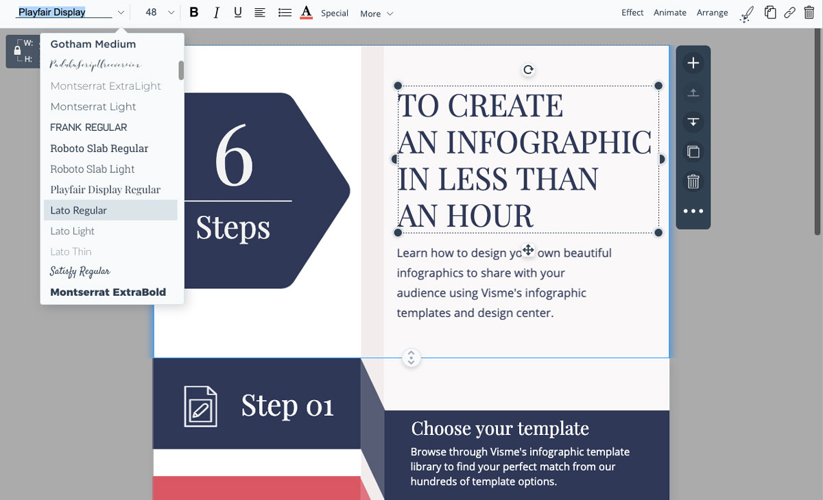 designing infographics - update your fonts