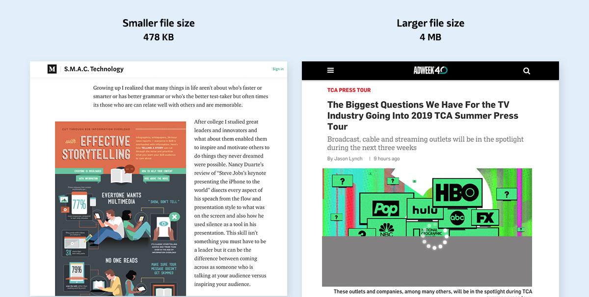 image optimization - image file size matters