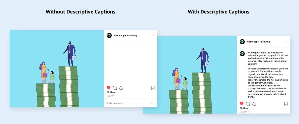 image optimization - use captions