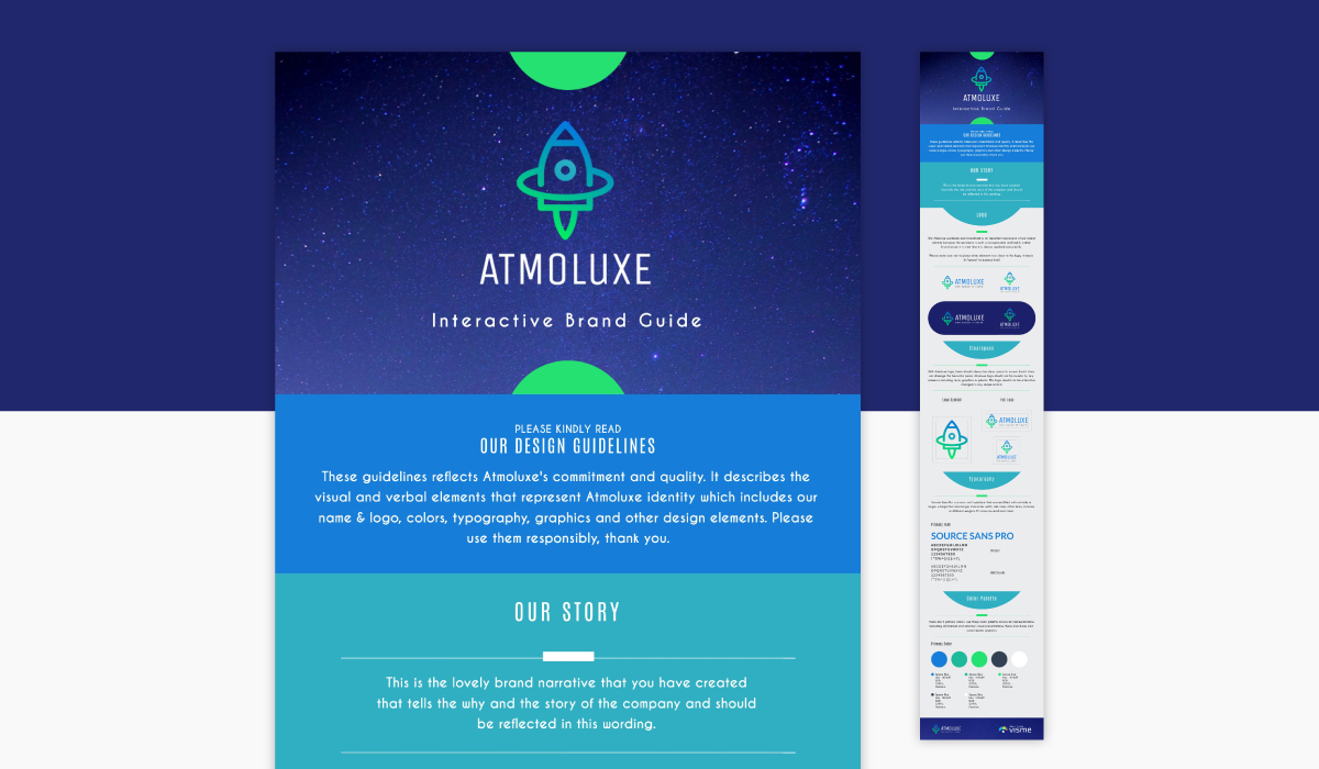 A brand guidelines infographic template available in Visme.