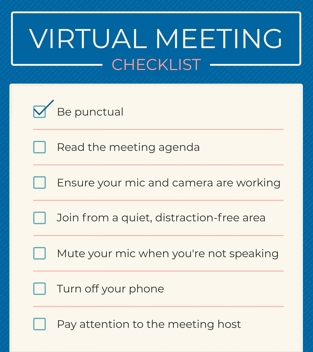 A checklist infographic template available in Visme.