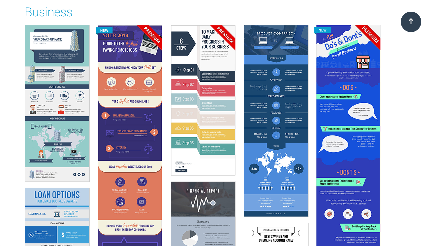 designing infographics - start with the right template 3