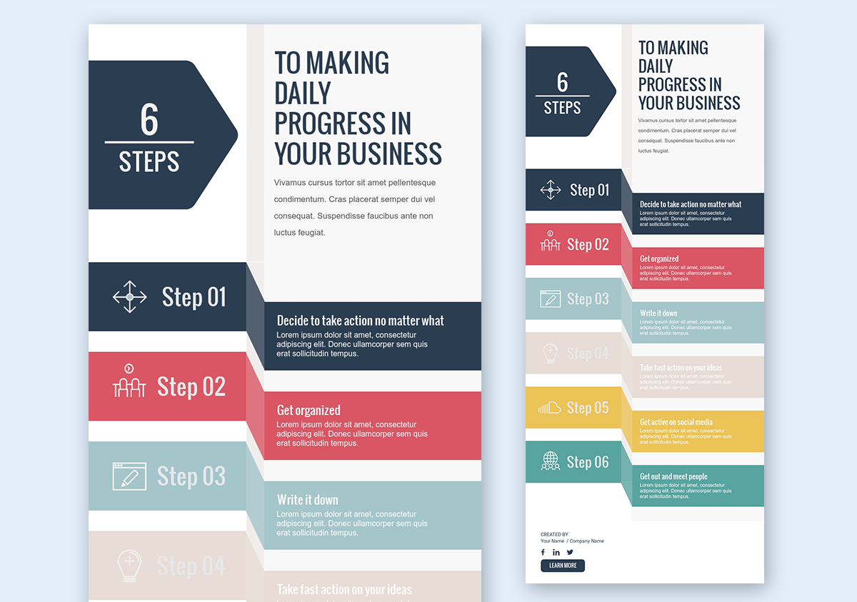designing infographics - start with the right template 4