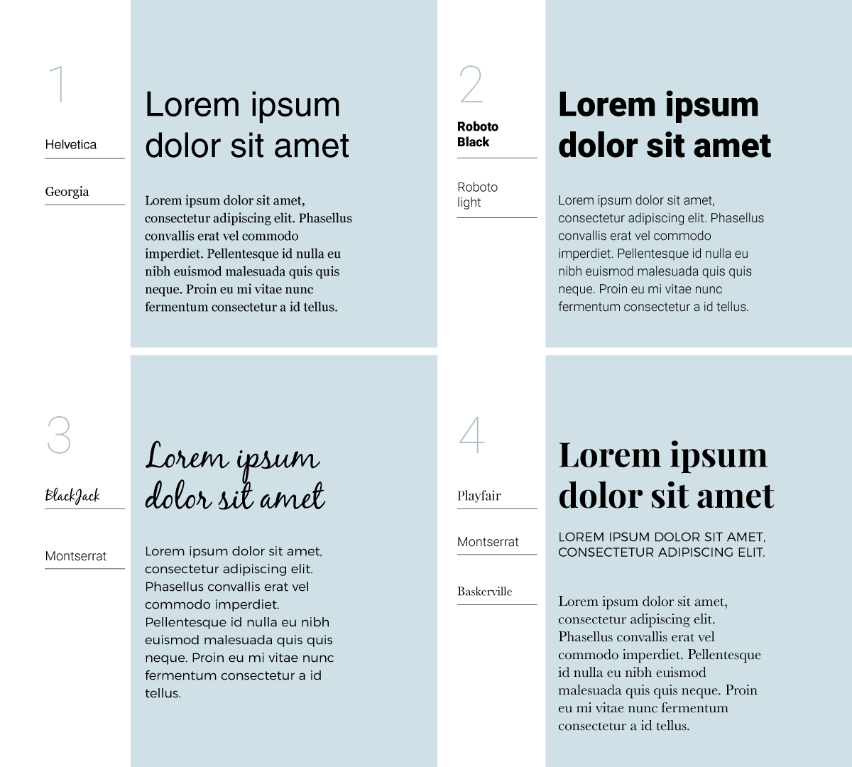 how to make a good infographic fast - font pairings
