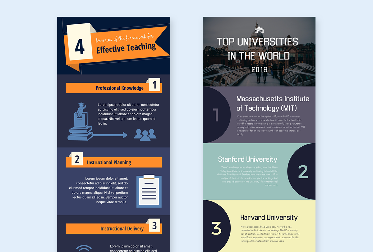 how to make a good infographic fast - list templates visme
