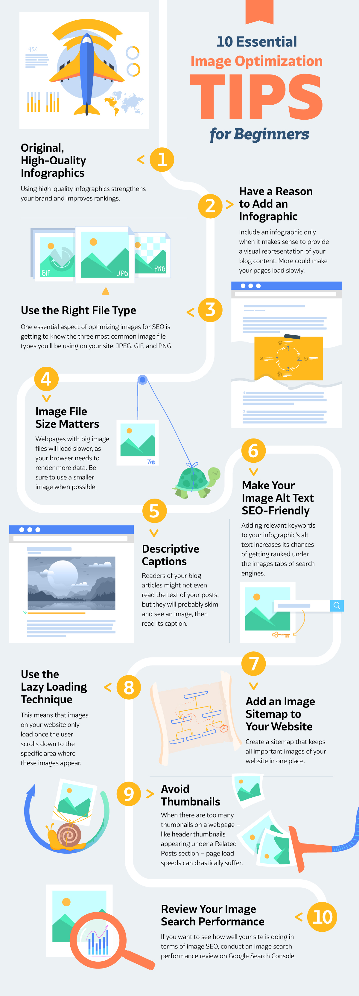 10 image optimization tips - infographic