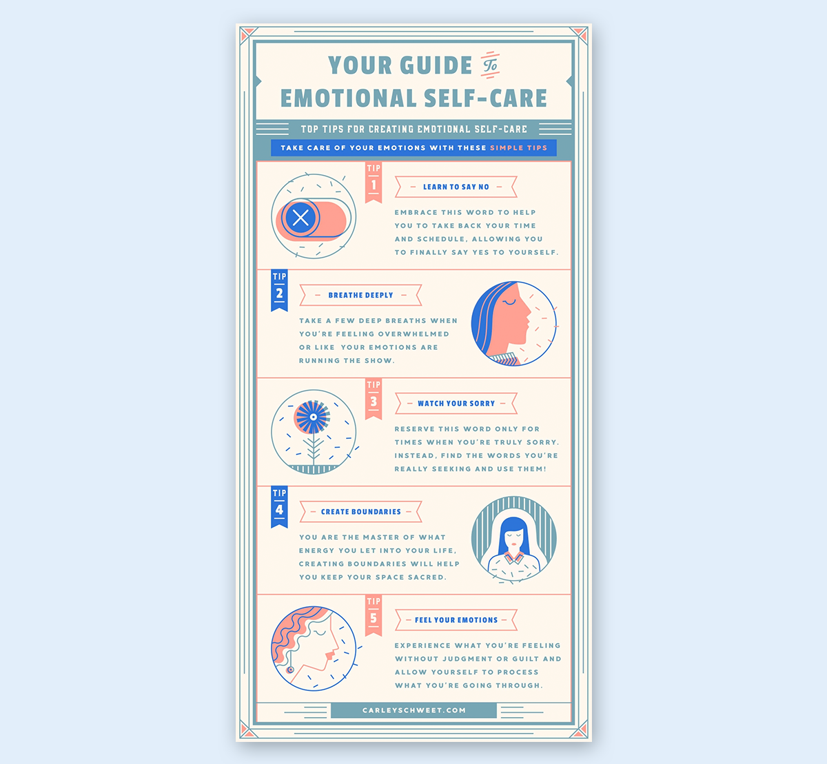 infographic design guide - stick to important information key points