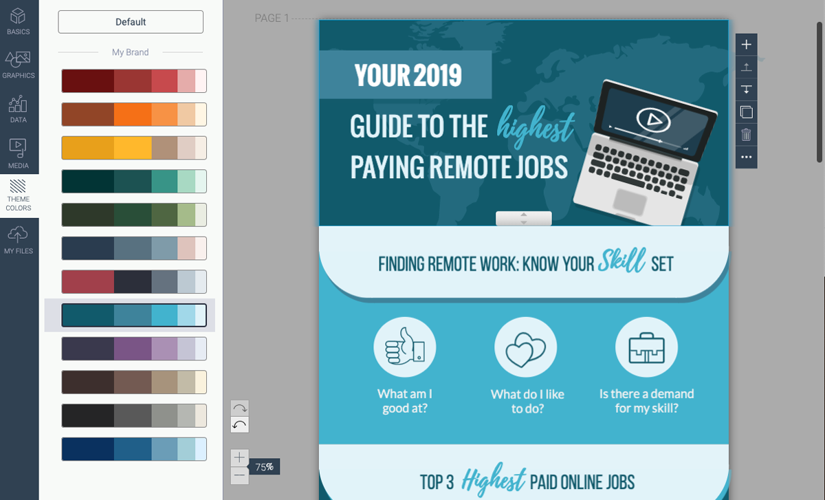 infographic design guide - use consistent color scheme