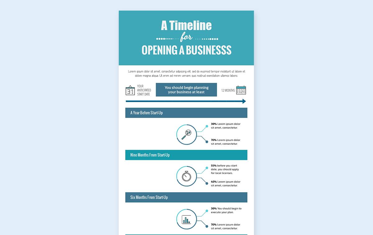 timeline infographic template - process visme 2