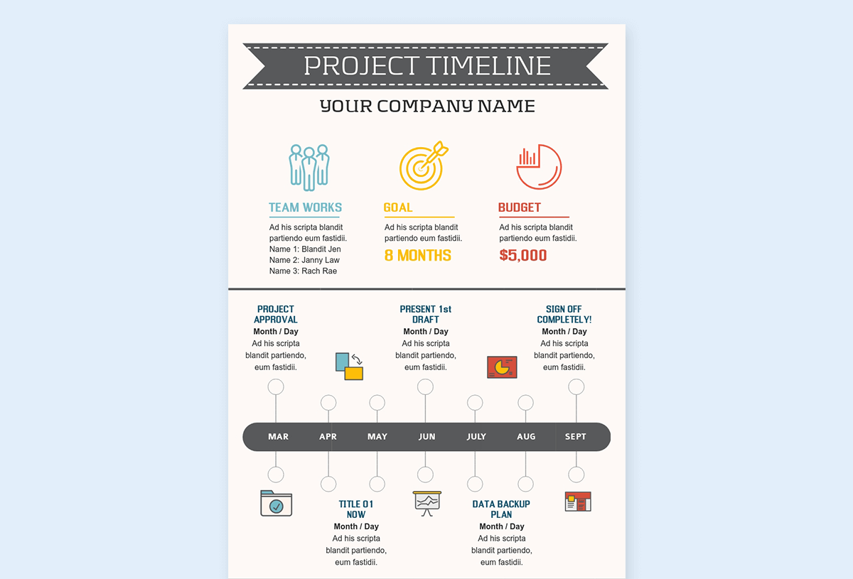 timeline infographic template - project visme 1