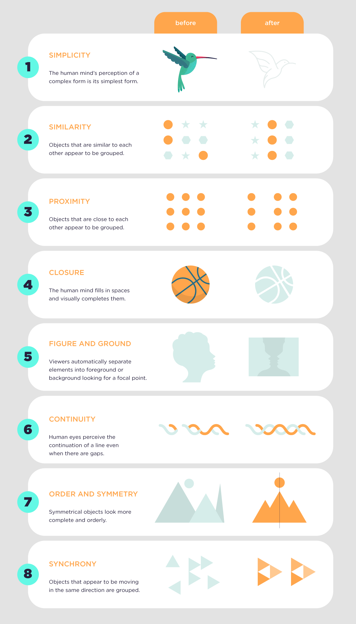design for infographic master - gestalt principles