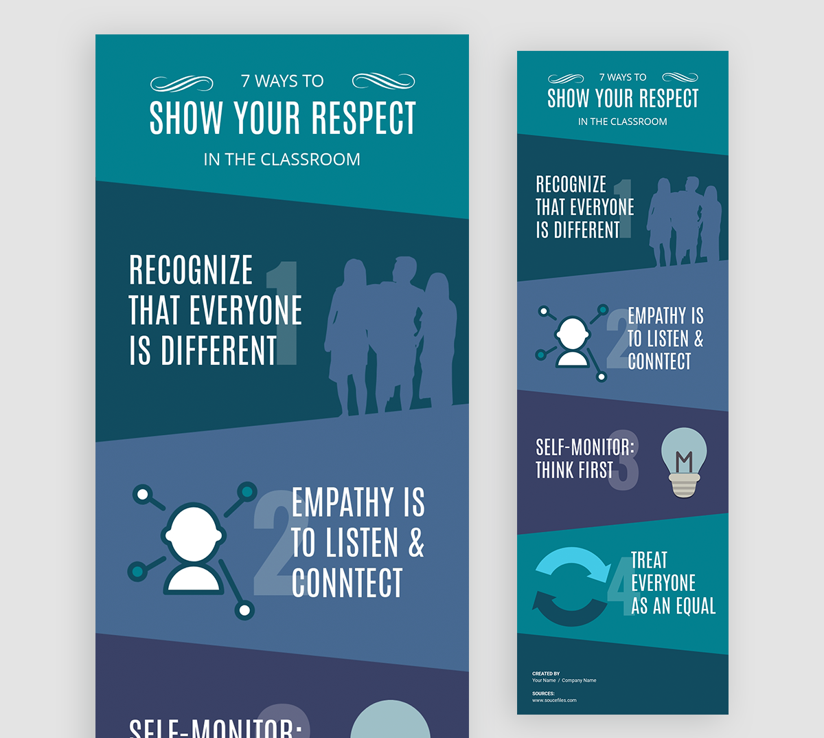 how to design infographics - students teachers classroom respect template visme