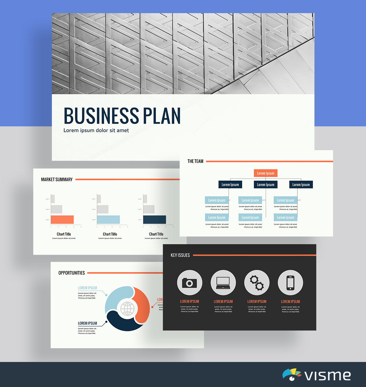 presentation slides - business plan template visme