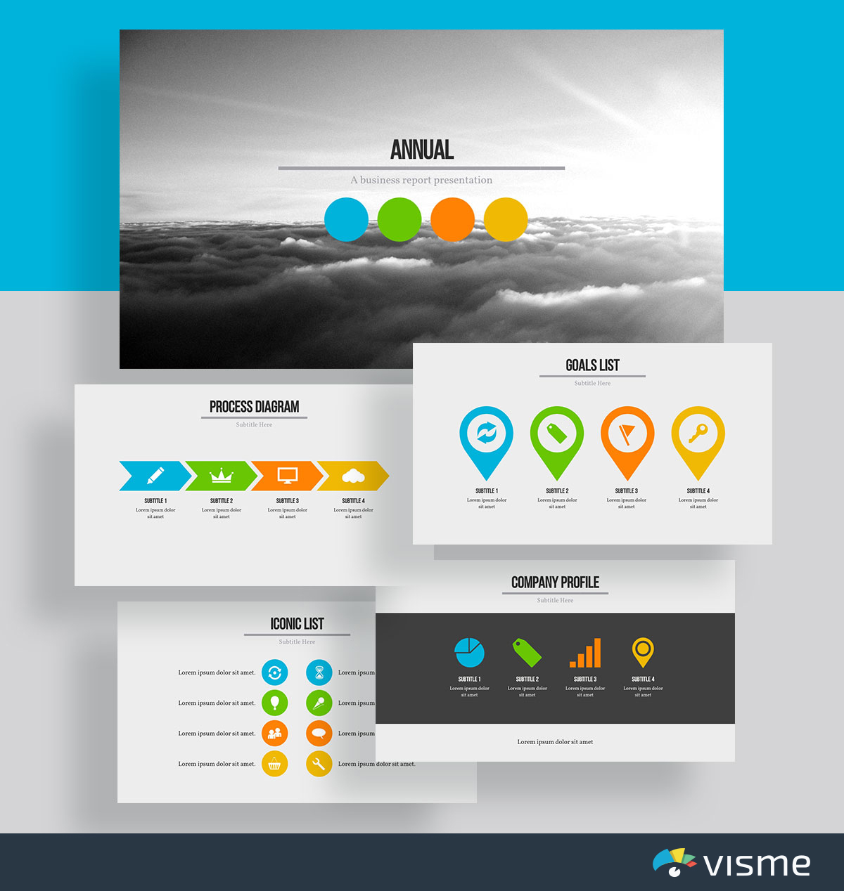presentation slides - company goals template visme