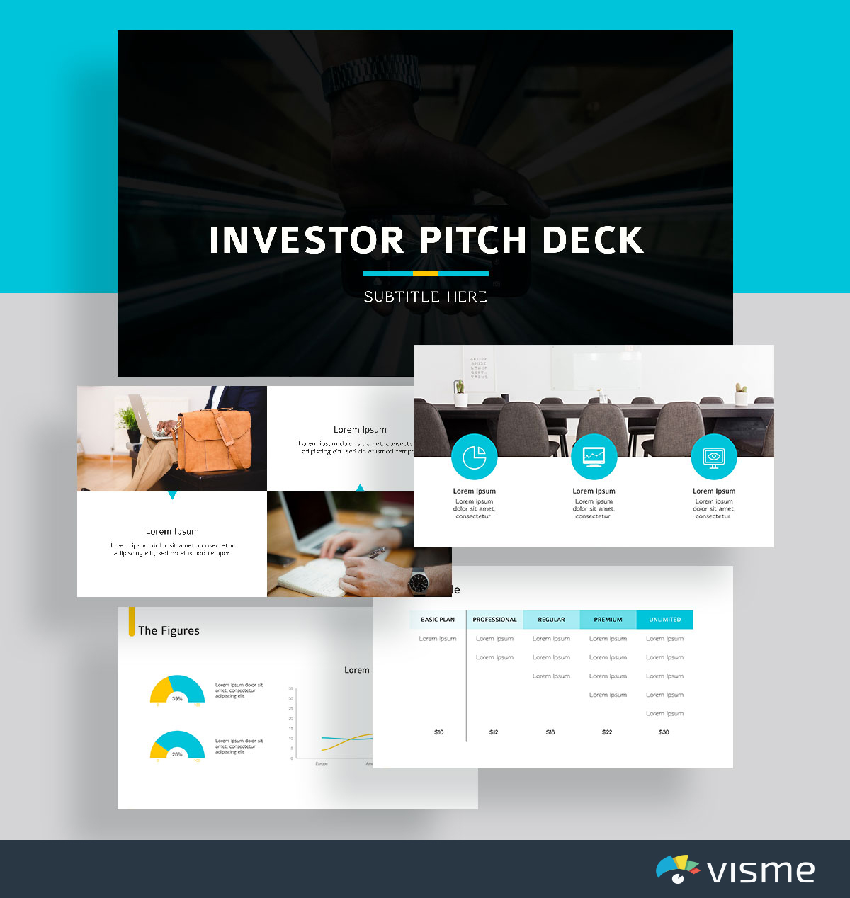presentation slides - investor pitch deck template visme