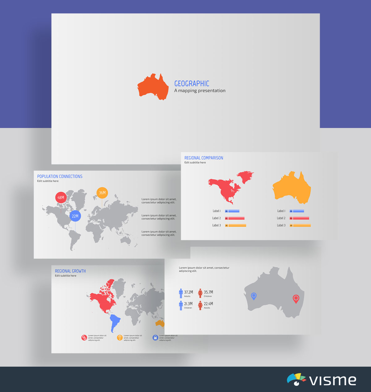 presentation slides - map presentation template visme