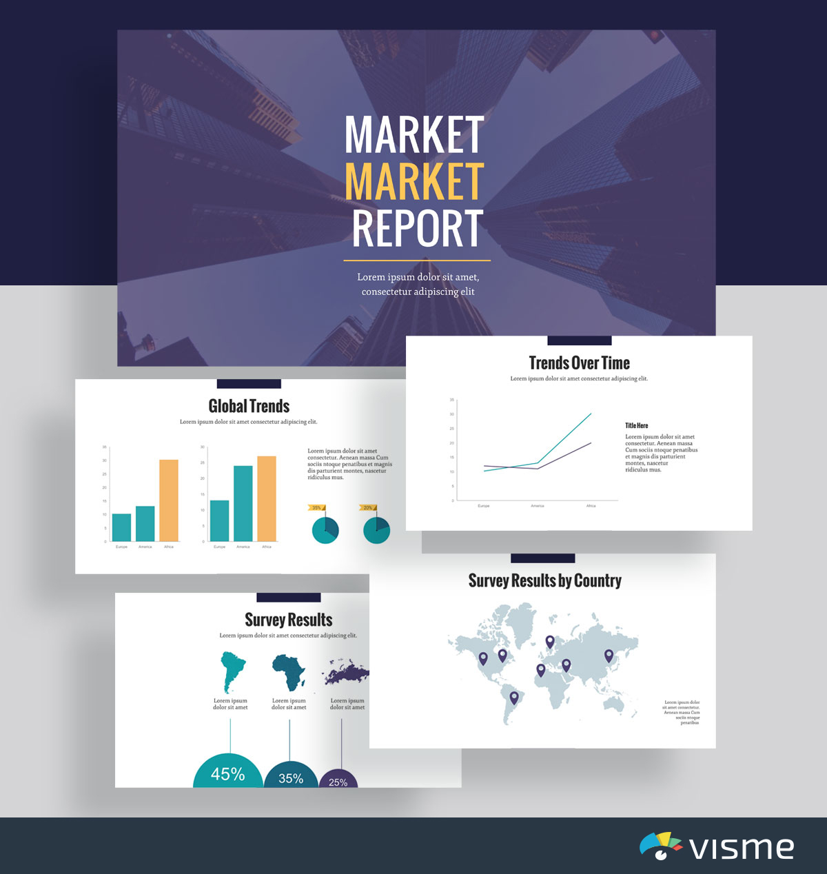 presentation slides - market analysis template visme