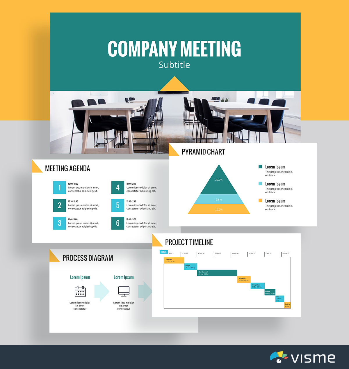 presentation slides - meeting agenda template visme