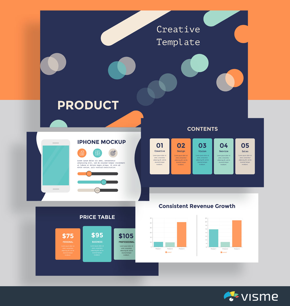 presentation slides - product introduction template visme