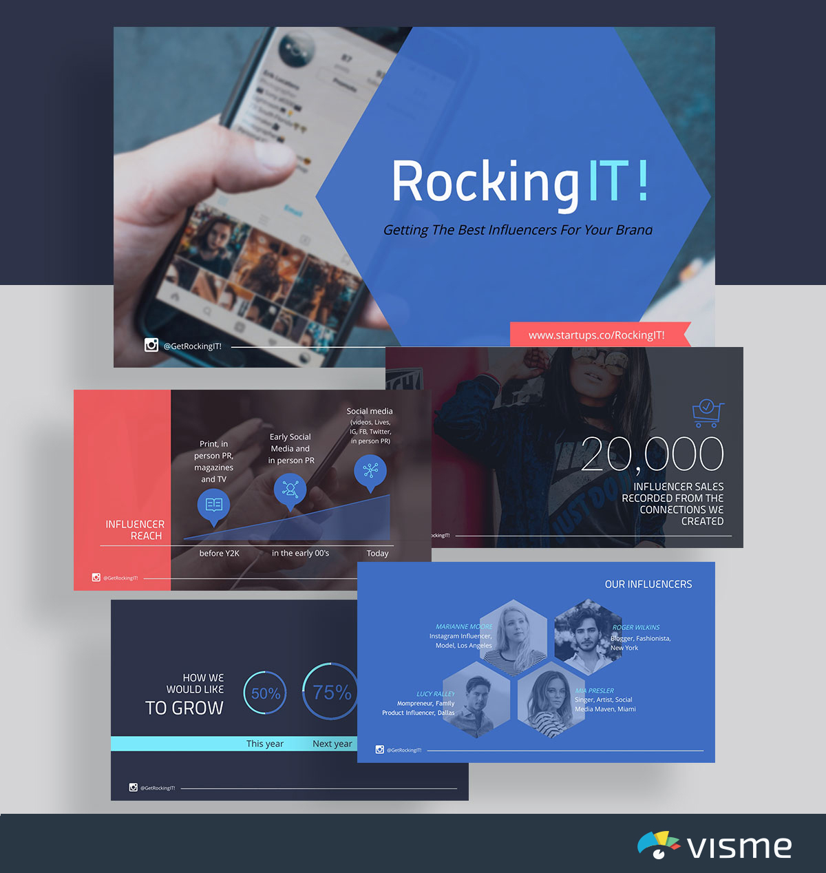 presentation slides - rockingit launchrock pitch deck template visme