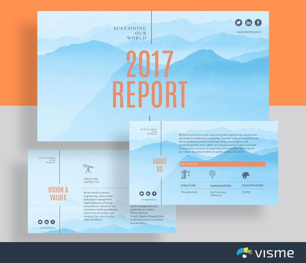 presentation slides - simple business presentation template visme